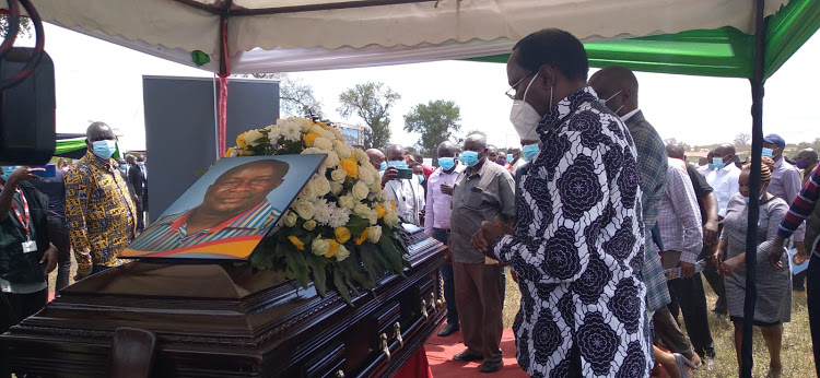Fare Thee well: Ex-MP Kalembe Ndile burried at his home  in Makueni