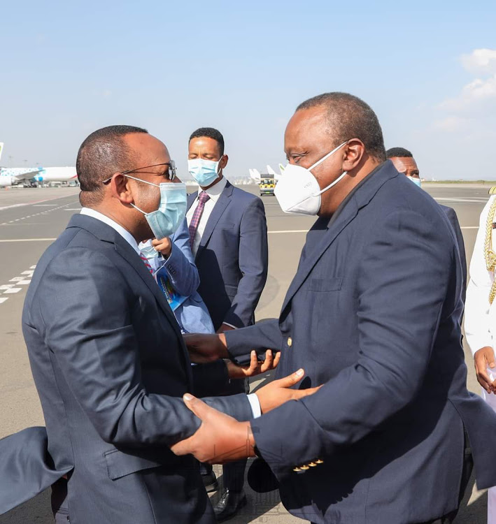 Uhuru arrives in Ethiopia for an official working visit