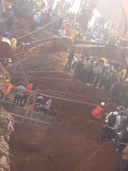 Several injured as Flyover under construction collapses in Kangemi