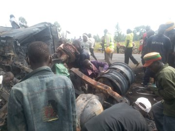 When will we ever learn?:13 people die while siphoning fuel after petrol tanker overturns, explodes on Kisumu-Busia highway