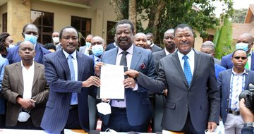 Nasa finally write to the registrar of political parties over decision to  exit pact, cite mistrust from Raila's ODM