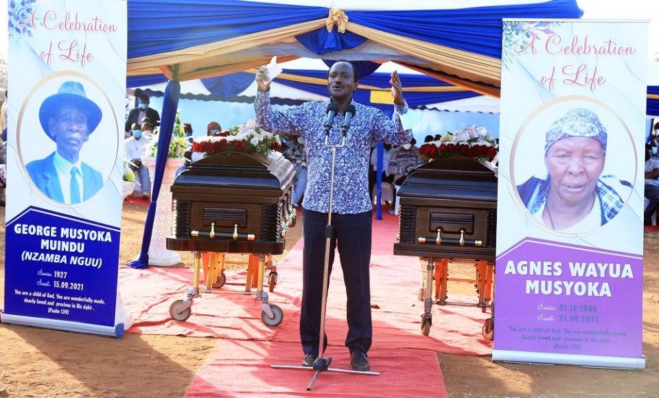 Kalonzo to Ruto: Come clean on the source of your wealth