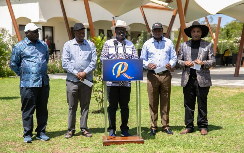 2022 ELECTIONS:  Odinga assured of support from 4 Mt. Kenya Governors